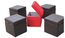 high quality faux leather storage ottoman J041 / leather Ottoman with storage J041/ leather pouf