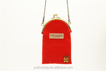 Chinese brand red mobile phone pouch promotional