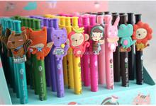 promotion cute lovely christmas stationery cartoon animals 3d printing logo ballpoint pen