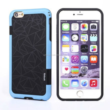 Wholesale good quality pu+tpu hard back cover case for iphone 6