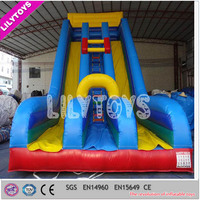 Good quality big slide inflatable, new colourful inflatable slide