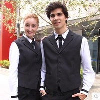 Hot selling men and women hotel uniform,working vests free shipping