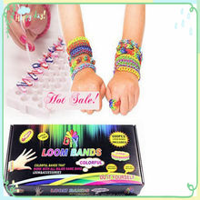 Loom Kit Colourful Rubber Bands Making Bracelet Clips Hook Board