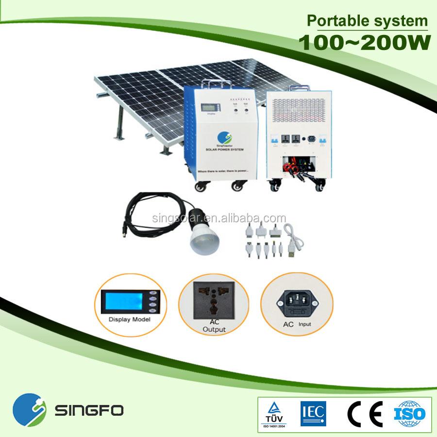 Energy saving solar kit 150w solar system off grid with for Energy efficiency kit