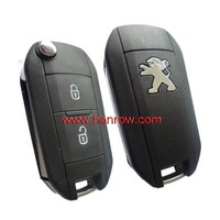 High qualtity 2 button 307 flip key for Peugeot replacment key shell peugeot 307 remote key blank