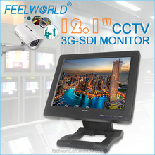 FEELWORLD 12.1 inch cctv monitor with 3G HD SD-SDI HDMI Component Audio Video