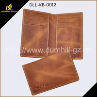 Factory Customized Crazy Horse leather Name Card Case And Card Pouch