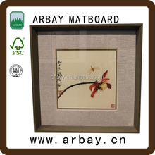 high quality custom size shadow box frames wholesale and hot sale white shadow box frame matboard for home decoration