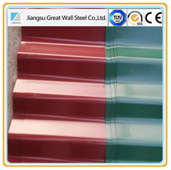 New building construction materials/ Color glazed steel sheet roofing/step tile