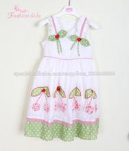 ropa de marca para niños, 100 niños ropa de algodón, vestido de algodón chevron del bebé