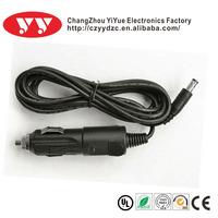 12 volt cigarette lighter receptacle with dc plug