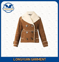 High quality latest design brown suede pu leather kid jacket for girls