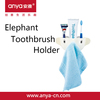 D709 creative & exquisite lovely elephant shaped hanging toothbrush holder & plastic bathroom toothbrush seat
