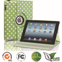 Most popular PU raindrop back case for ipad cover with stand function