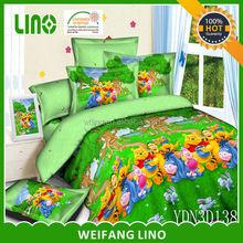 teddy winnie 3d cotton bedsheets china luxury cotton sateen duvet manufacturer