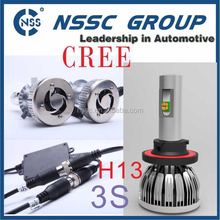 Factory Direct Wholesale 3S LED Car Lamp H13 Hi Low Beam 38W 4500LM LED Headlight