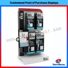Modern retail shop metal accessories counter display stand