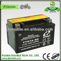 YTX7A-BS 12v 7ah MF motorcycle lead acid battery