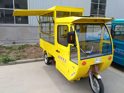 new electric cargo tricycle for mobile ice cream shop