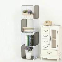 4 cubes double color Linen cupboard Corner wardrobe storage capacity( FH-AL0017)