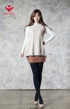Fineveryผู้หญิง- รูปร่างแขนกุดถักเสื้อกั๊กเสื้อกลมกับคอถักและทอผ้าการออกแบบ