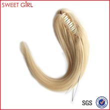Wonderful blonde color 60 virgin Brazilian human hair claw clip ponytail