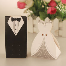 wholesale Bride Groom Wedding Favor Boxes party gift candy box wedding gift