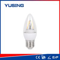 LED workshop i-Flame E27 base C37 glass LED filament bulb led bulb c37 aquarius