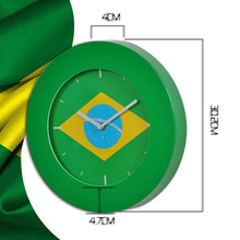 Promotional Wholesale New Design Flag Wall Clock Plastic
