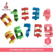 Factory manufacture difference shape birthday alphabet candles