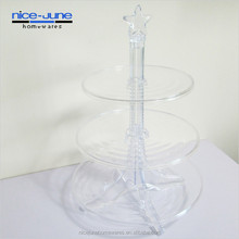 3 tier Acryic Wedding Individual Tower Cake Cupcake Stand