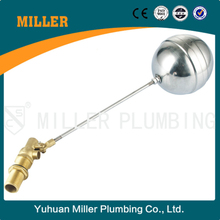 dn40 trade assurance competitive price Brass Float valve with stainless ball Yuhuan Miller Plumbing ML-8303