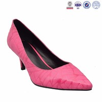 2015-16 latest wholesale designer rubber black pink orange especial low thin heel leather dress shoes