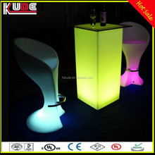Modern Lounge LED Bar Furniture/Outdoor LED Glowing Furniture Lighting For Party Nighclub