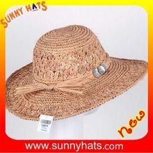 SN-0078 Madagascar raffia straw hat of ladies