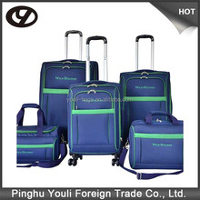 With muti bright color travel house luggage