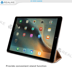 kickstand fitting well pu leather for ipad pro case, for ipad pro smart case