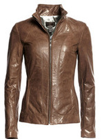 High Quality Soft Thin Fashion Woman Leather Jacket