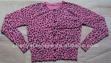 Womens printing cardigan sweater