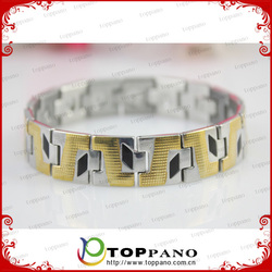 2015 new 4 in 1 energy excellent quality ladies stainless steel heavy metal bracelet