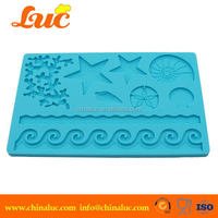 Lsm2203 Silicone Starfish Shell Animal Cake Mold Cupcake Decorating Tools