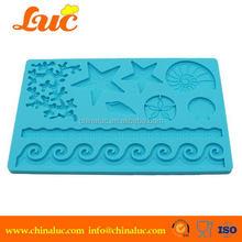 Lsm2203 Silicone Starfish Shell Animal Cake Mold Cupcake Decorating Tools