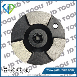 Diamond plug grinding with trapezoid type for concrete