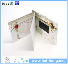 Top quality 1.5' 1.8 ' 2.4' 3.5' 4.3' 5' 7' 10' video brochure/wedding video card/video module