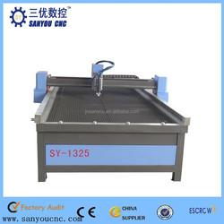CNC plasma table, Safety operate plasma cutting machine SY-1325/plasma cutter