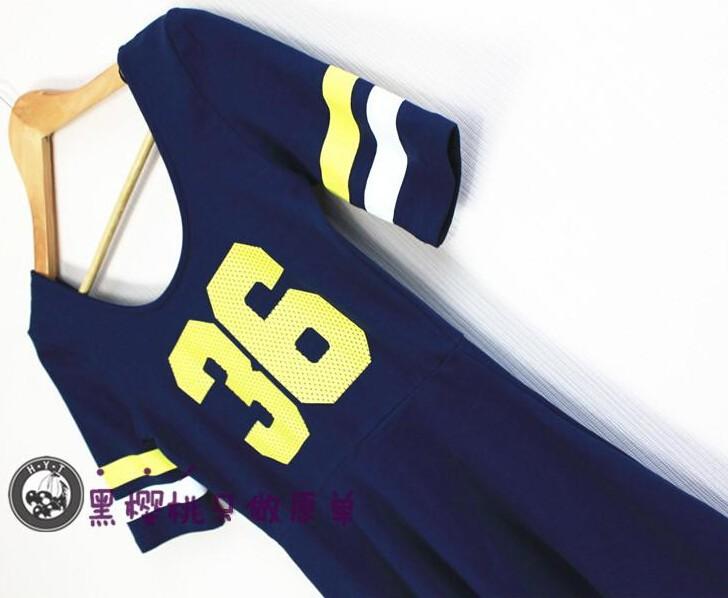 Женская мода причинно-следственной марка Спорт платье номер 36# печать высокой талией хлопок удобные короткие цельные s m l