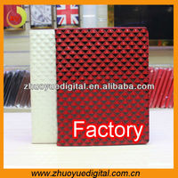 Universal tablet diamond pattern grain folio stand leather case for 7inch 8inch 9inch 9.7inch 10.1 inch tablet