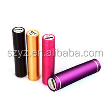 Power up your cellphone outdoor! 2600mAh external power bank with handle