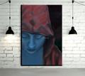 Prezzo all'ingrosso di alta qualità artista famoso dipinto blu umano dipinto ad olio su tela