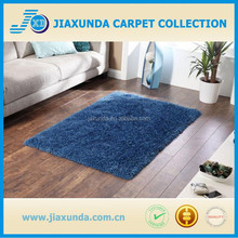 100% polyester blue microfiber super soft shaggy carpet rug